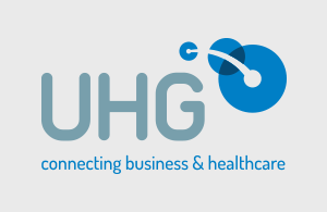 UHG Connecting business and healthcare logo