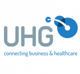 UHG - connecting business and healthcare logo