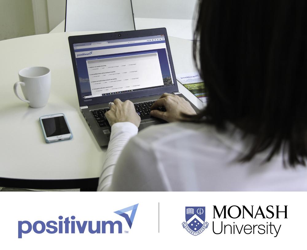 Positivum logo and Monash University lgoo